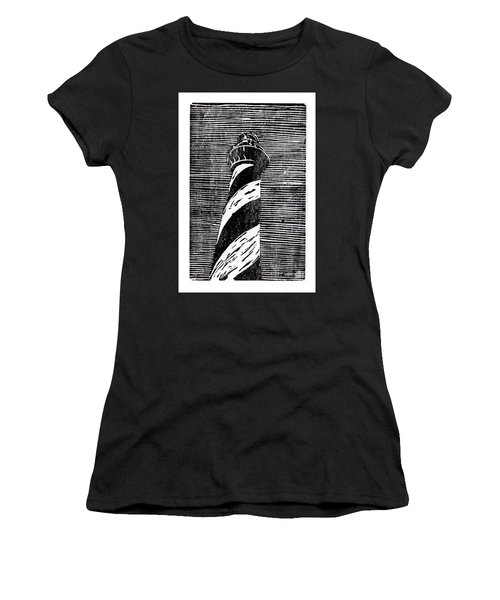 Women's T-Shirt (Junior Cut) featuring the painting Cape Hatteras Lighthouse II by Ryan Fox