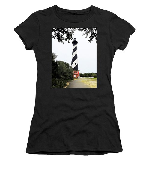 Cape Hatteras Lighthouse Women's T-Shirt (Junior Cut) by Shelia Kempf
