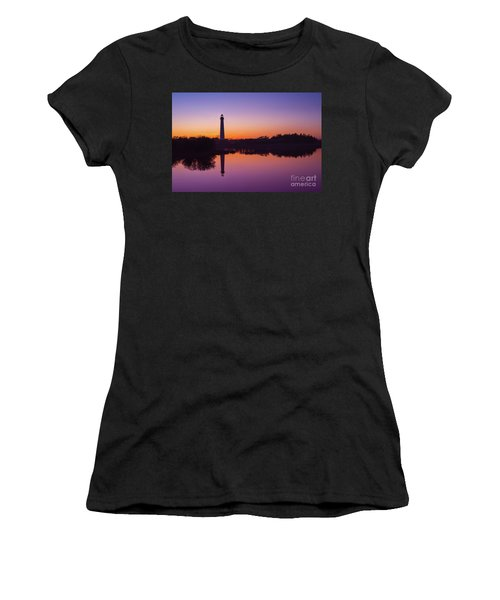 Cape May Lighthouse At Blue Hour  Women's T-Shirt