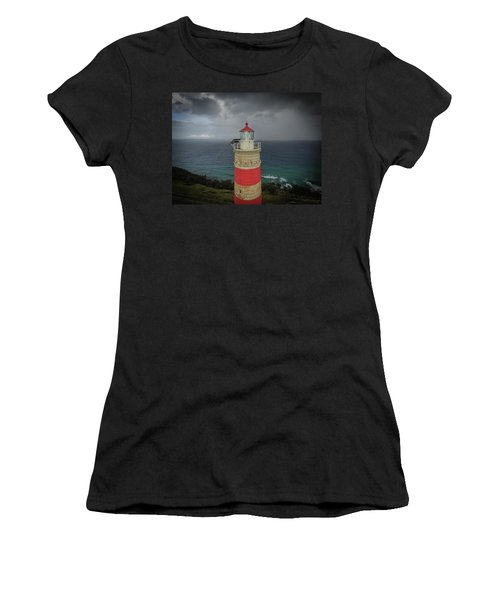 Women's T-Shirt (Athletic Fit) featuring the photograph Cape Moreton Light by Keiran Lusk