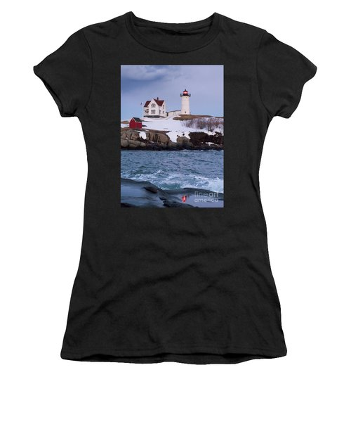 Cape Neddick Light At Dusk, York, Maine 21073 Women's T-Shirt