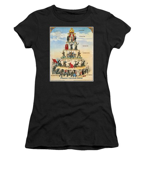 Women's T-Shirt featuring the photograph Capitalist Pyramid, 1911 - To License For Professional Use Visit Granger.com by Granger