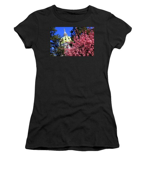 Capitol In Bloom Women's T-Shirt (Junior Cut) by Shelley Neff