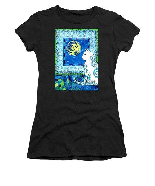Capricorn Cat Zodiac Women's T-Shirt (Athletic Fit)