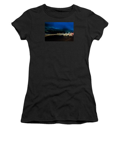 Car Light Trails At Dusk In City Women's T-Shirt