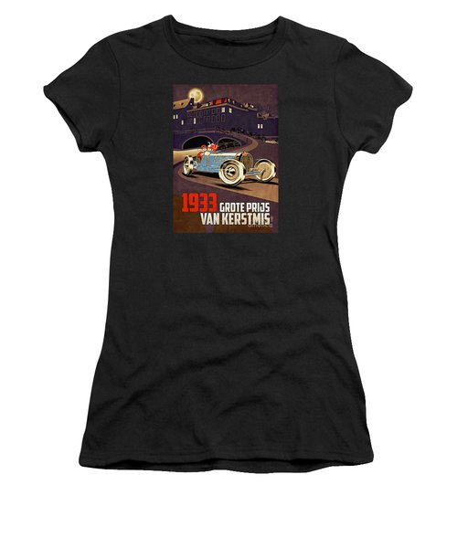 Car Racing Christmas Poster Of The 30s Women's T-Shirt