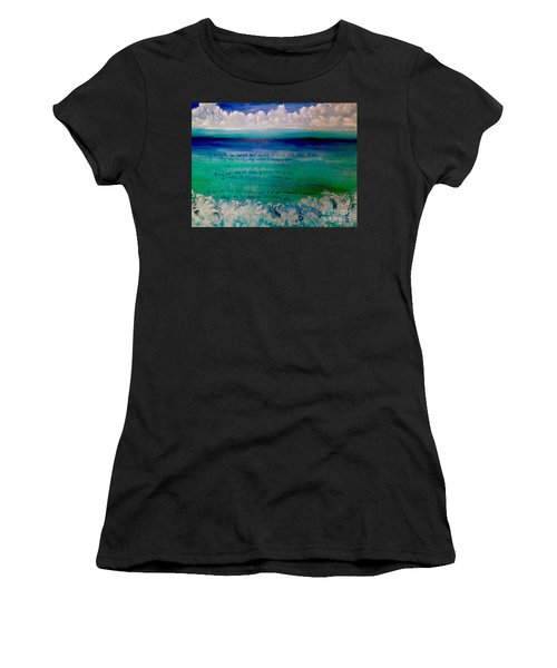 Caribbean Blue Words That Float On The Water  Women's T-Shirt