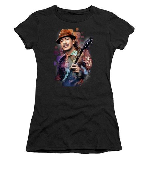 Carlos Santana Women's T-Shirt (Athletic Fit)