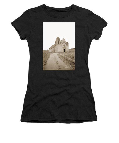 Carmel Mission South Side Circa 1915 Women's T-Shirt