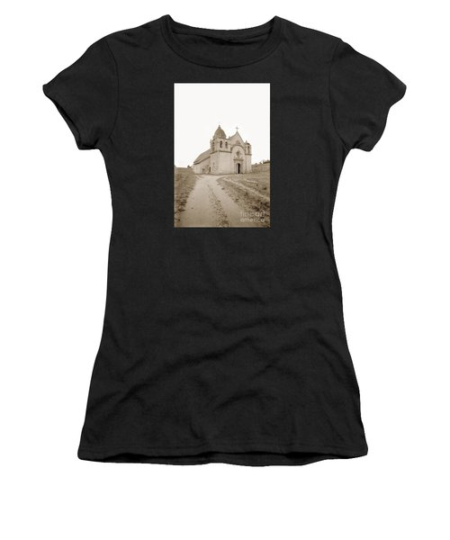 Carmel Mission South Side Circa 1915 Women's T-Shirt (Athletic Fit)
