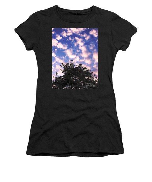 Cartoon Clouds Women's T-Shirt (Junior Cut) by Melissa Stoudt