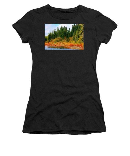 Cascade Autumn Women's T-Shirt (Athletic Fit)