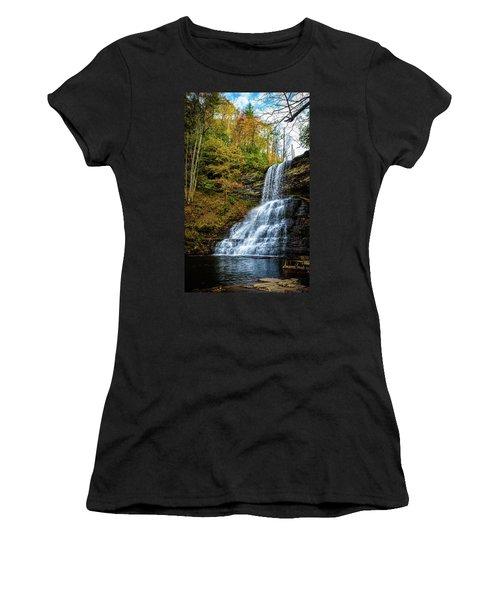 Cascades Lower Falls Women's T-Shirt (Athletic Fit)