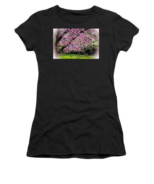 Cascading Dogwood Copyright Mary Lee Parker 17, Women's T-Shirt