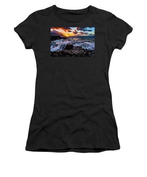 Cascading Water At Sunset Women's T-Shirt