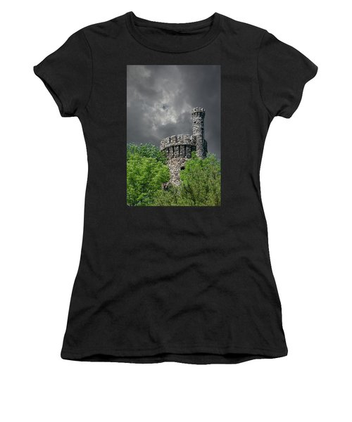 Women's T-Shirt (Athletic Fit) featuring the photograph Casco Castle by Guy Whiteley
