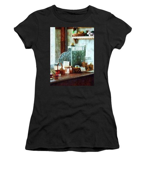 Women's T-Shirt (Junior Cut) featuring the photograph Cash Register In General Store by Susan Savad