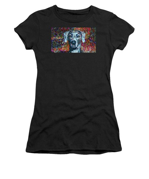 Cash The Blue Lacy Dog Women's T-Shirt (Athletic Fit)