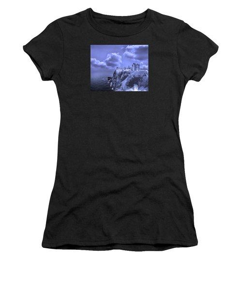 Castle Blue Women's T-Shirt (Athletic Fit)