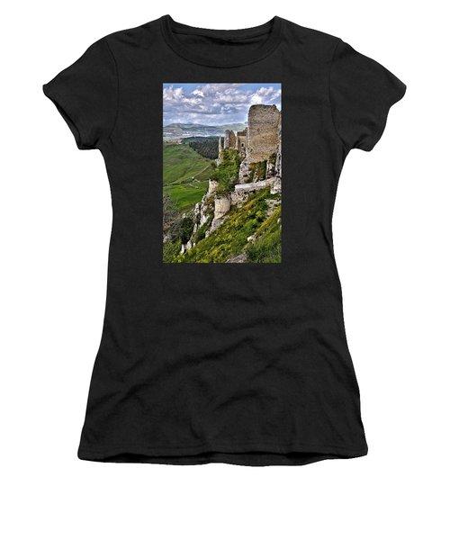 Castle Of Pietraperzia Women's T-Shirt (Athletic Fit)