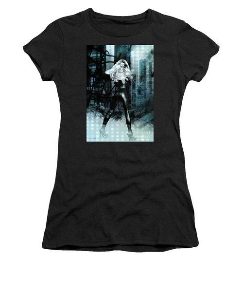 Cat Girl Comic Like Pinup Women's T-Shirt