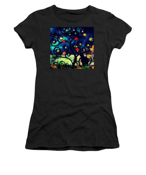 Cat Watch  Women's T-Shirt (Junior Cut) by Kim Prowse