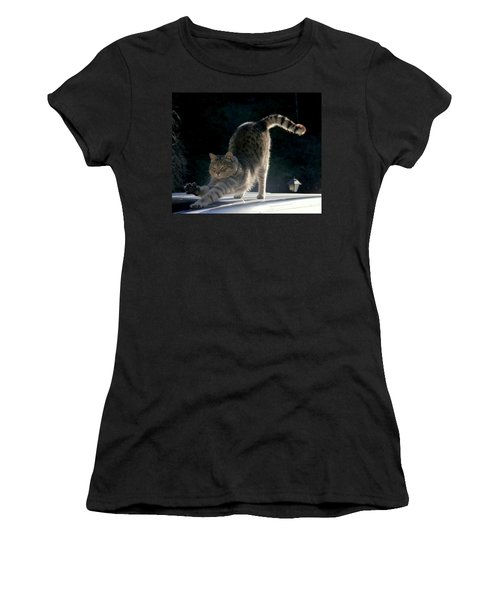 Cat Yoga Women's T-Shirt (Athletic Fit)