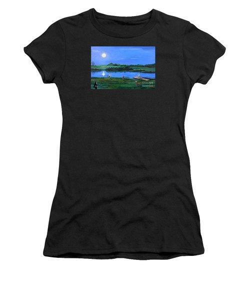 Catching Fireflies By Moonlight Women's T-Shirt