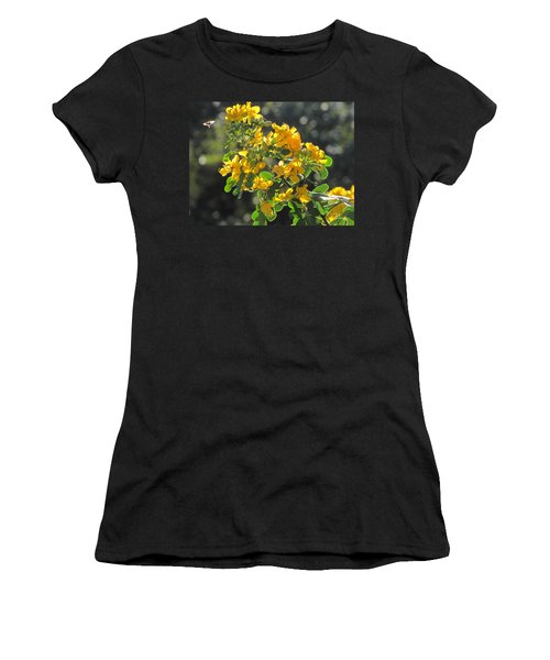 Catchlight Bee Over Yellow Blooms Women's T-Shirt