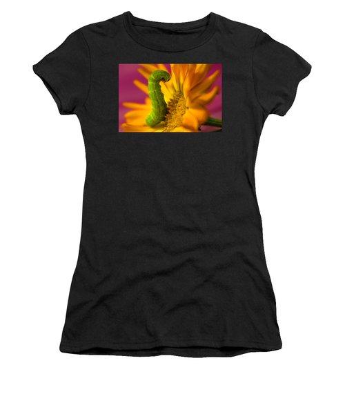 Caterpillar In Flower Women's T-Shirt