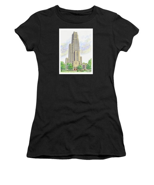 Cathedral Of Learning Women's T-Shirt (Athletic Fit)