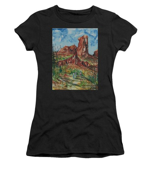 Hiking Cathedral Rock,  Sedona, Az. Women's T-Shirt