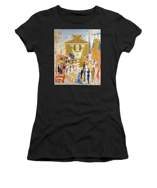 The Cathedrals Of Wall Street - History Repeats Itself Women's T-Shirt (Junior Cut) by John Stephens