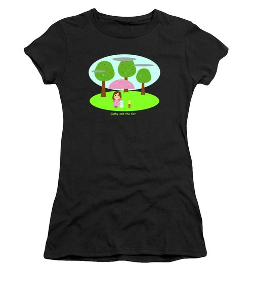 Cathy And The Cat Rainy Day Women's T-Shirt