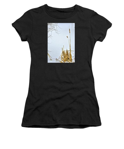 Cattails In Winter Women's T-Shirt
