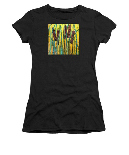 Cattails Women's T-Shirt (Athletic Fit)
