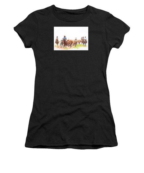 Cattle Drive Women's T-Shirt (Athletic Fit)