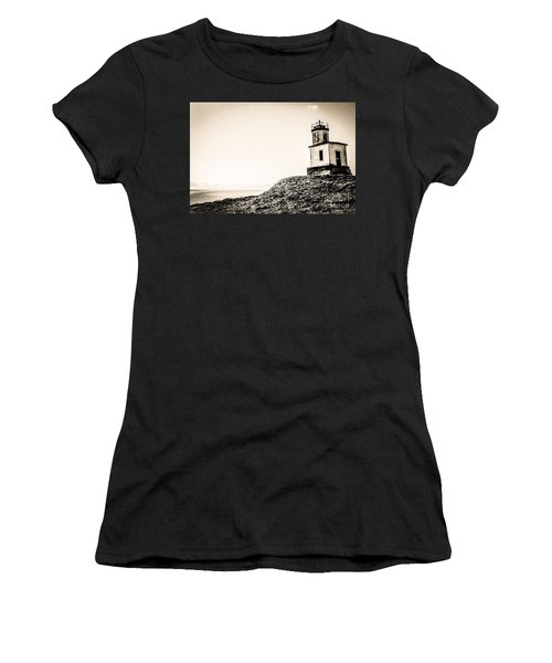 Cattle Point Lighthouse Women's T-Shirt (Athletic Fit)