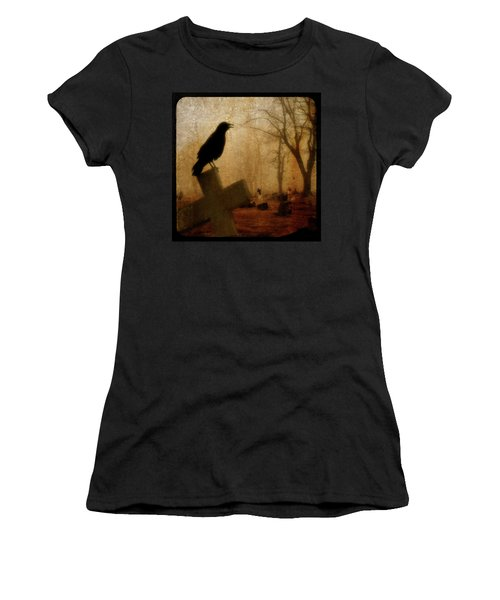 Cawing Night Crow Women's T-Shirt (Athletic Fit)