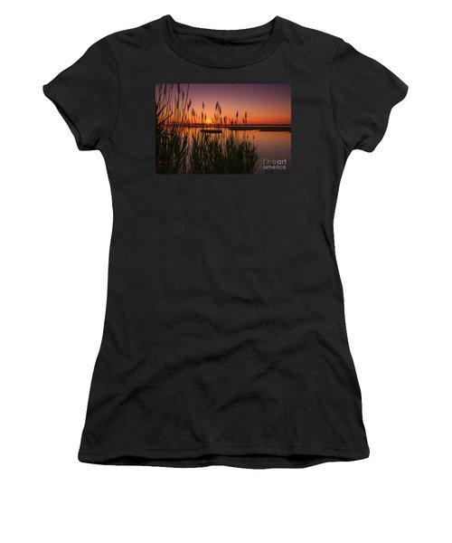 Cedar Beach Sunset In The Reeds Women's T-Shirt