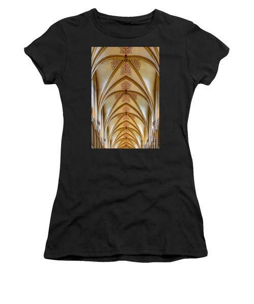 Ceiling, Wells Cathedral. Women's T-Shirt (Athletic Fit)