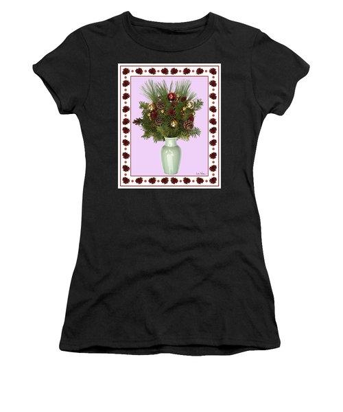 Celadon Vase With Christmas Bouquet Women's T-Shirt