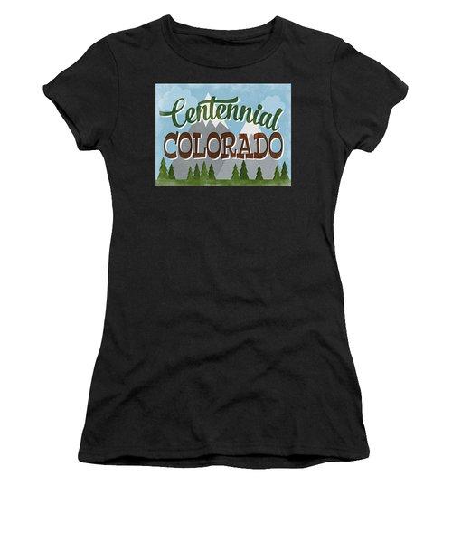 Centennial Colorado Snowy Mountains Women's T-Shirt