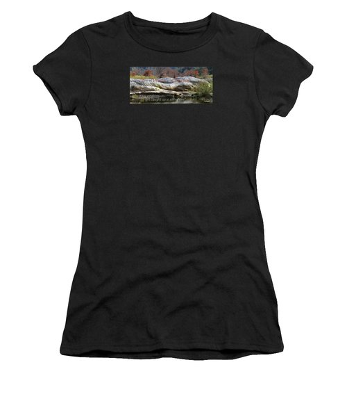 Centered In Humility Women's T-Shirt (Junior Cut) by David Norman