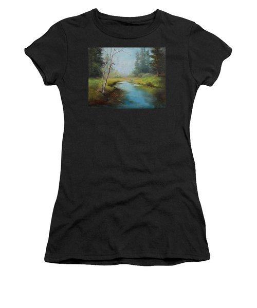 Cerulean Blue Stream Women's T-Shirt