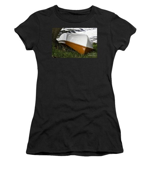 Chained Little Boat Just Waiting Women's T-Shirt (Athletic Fit)