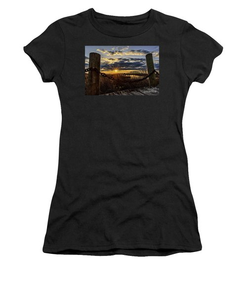 Chained View Women's T-Shirt (Athletic Fit)