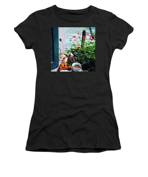 Chanel View Breakfast In Venezia Women's T-Shirt (Athletic Fit)