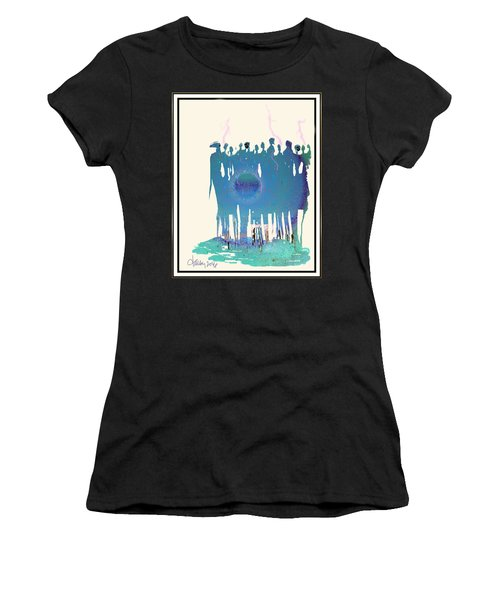 Women Chanting - Recharging The Earth Women's T-Shirt (Athletic Fit)