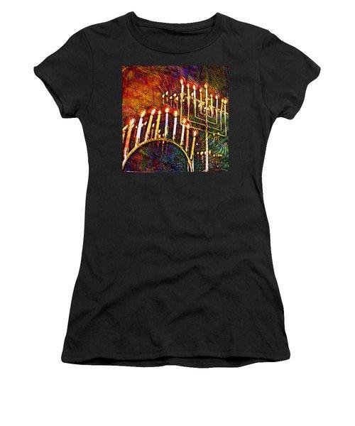 Chanukiah Women's T-Shirt